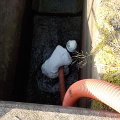 ため池汚泥清掃③
