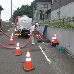 団地内大型排水路清掃③