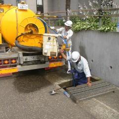 団地内大型排水路清掃④