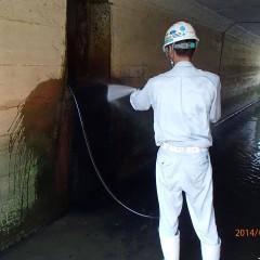 団地内大型排水路清掃⑥